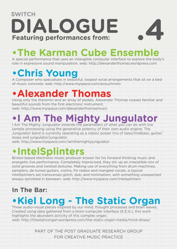 Dialogue .4 Flyer Back
