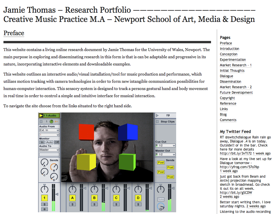 Jamie Thomas Research Site